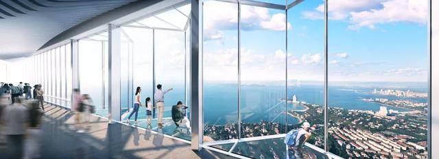 青岛第一高楼——青岛海天中心结构封顶,建築呈现'六边形'設計-9.jpg