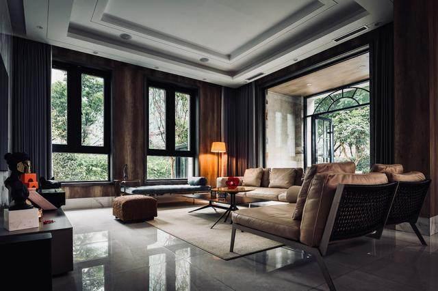 300㎡灰调原木风私宅,简洁质朴惹人爱 尚层软装设计-2.jpg