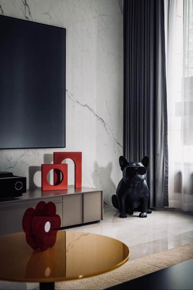 300㎡灰调原木风私宅,简洁质朴惹人爱 尚层软装设计-6.jpg