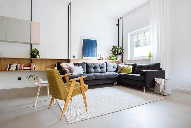 明亮简约的中世纪现代主义公寓,复古优雅的居住空间空间-1.jpg