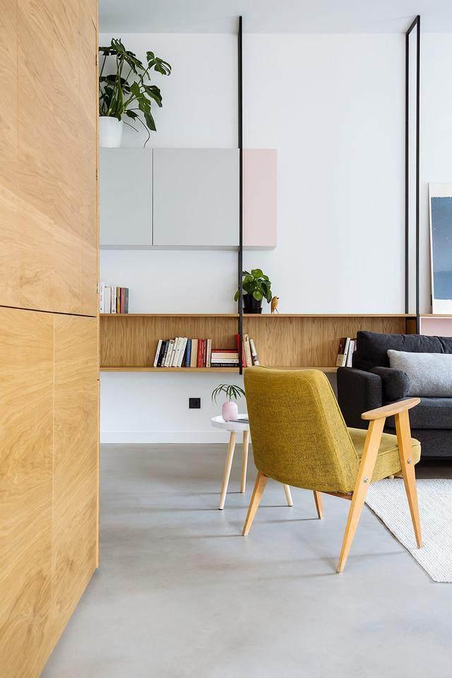 明亮简约的中世纪现代主义公寓,复古优雅的居住空间空间-4.jpg