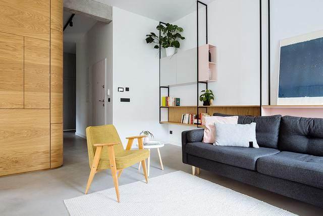 明亮简约的中世纪现代主义公寓,复古优雅的居住空间空间-3.jpg