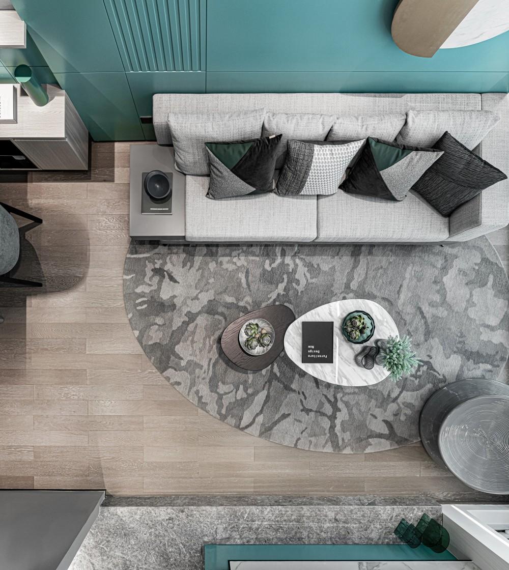 全能百变的清新LOFT,演绎色彩与空间的新探索 | F.M.Design