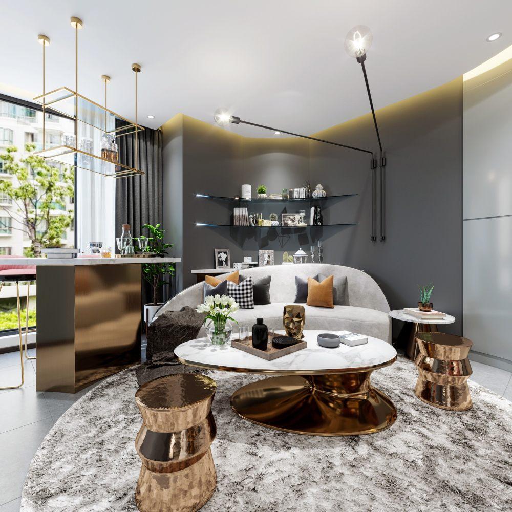 现代单身公寓表现 空间 室内设计