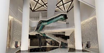 HBA-杭州新天地丽笙酒店丨方案(四版)+效果图+施工图+灯光·暖通·机电图丨
