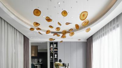 菲拉设计-绿城蓝庭伍重院800m²现代轻奢别墅丨效果图+施工图+官方摄影+3D模型丨