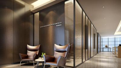 广东集美组  佛山万达甲级写字楼&两套办公样板间丨效果图+施工图+机电图+物料表丨