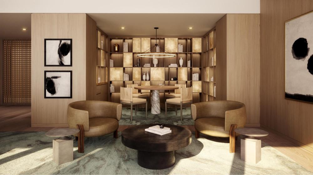 【贝聿铭+雅布Yabu】洛杉矶费尔蒙世纪广场酒店+公寓丨高清效果图+公寓PDF平面+官方视频丨