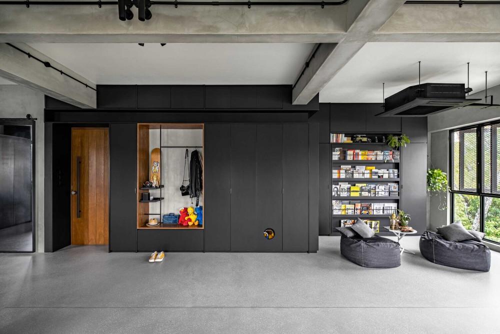 UNO Interior 新作 | 灵活与流体结合的工业风住宅(Fluid & Flexible)