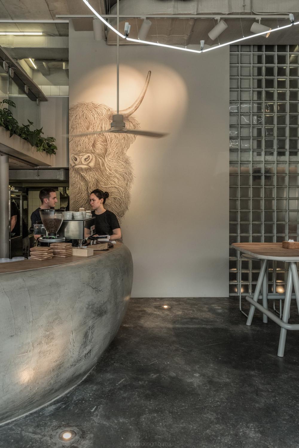 replus design bureau 设计 | OM NOM NOM 素食咖啡馆