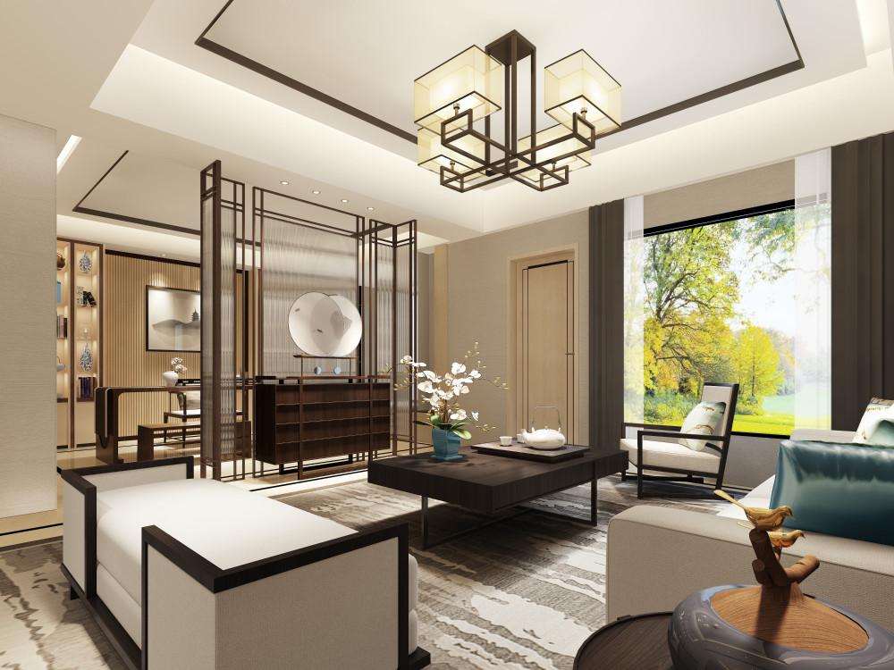 郑州龙湖215下叠别墅-客厅C2.JPG