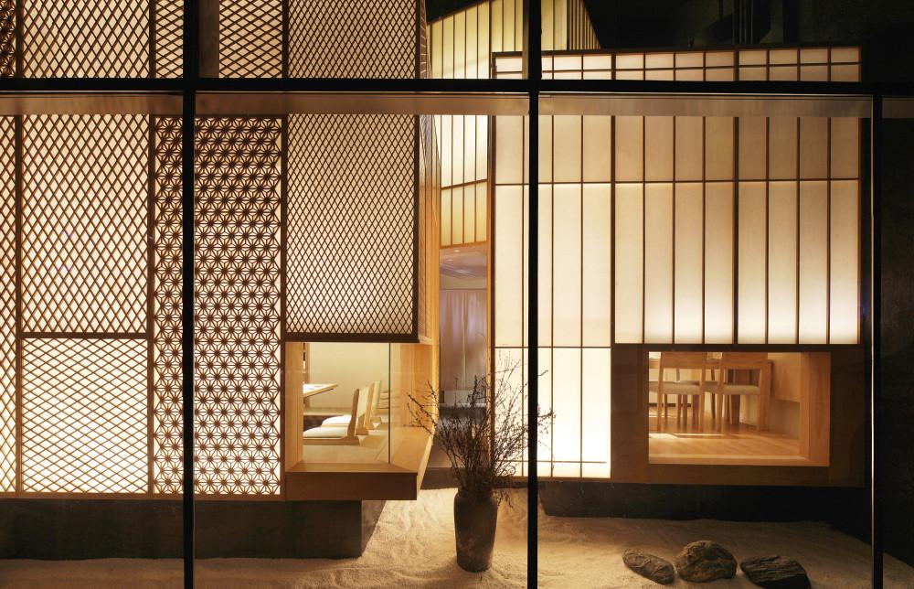 成都高级日式料理店-大徳餐厅丨效果图+施工图