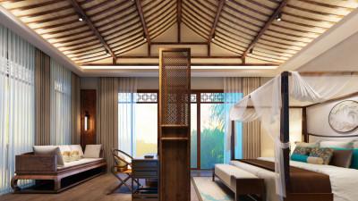 六安苍龙湖新中式度假酒店丨设计方案+效果图+CAD全套施工图+软装物料