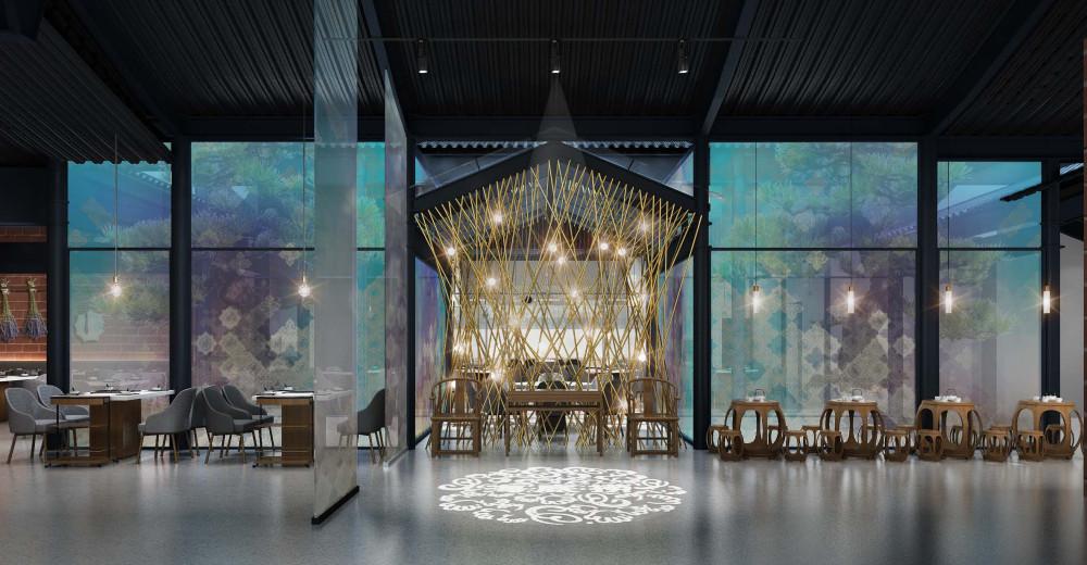琚宾 | 泉州晋江五店市海底捞丨效果图+概念方案+深化方案+全套施工图丨