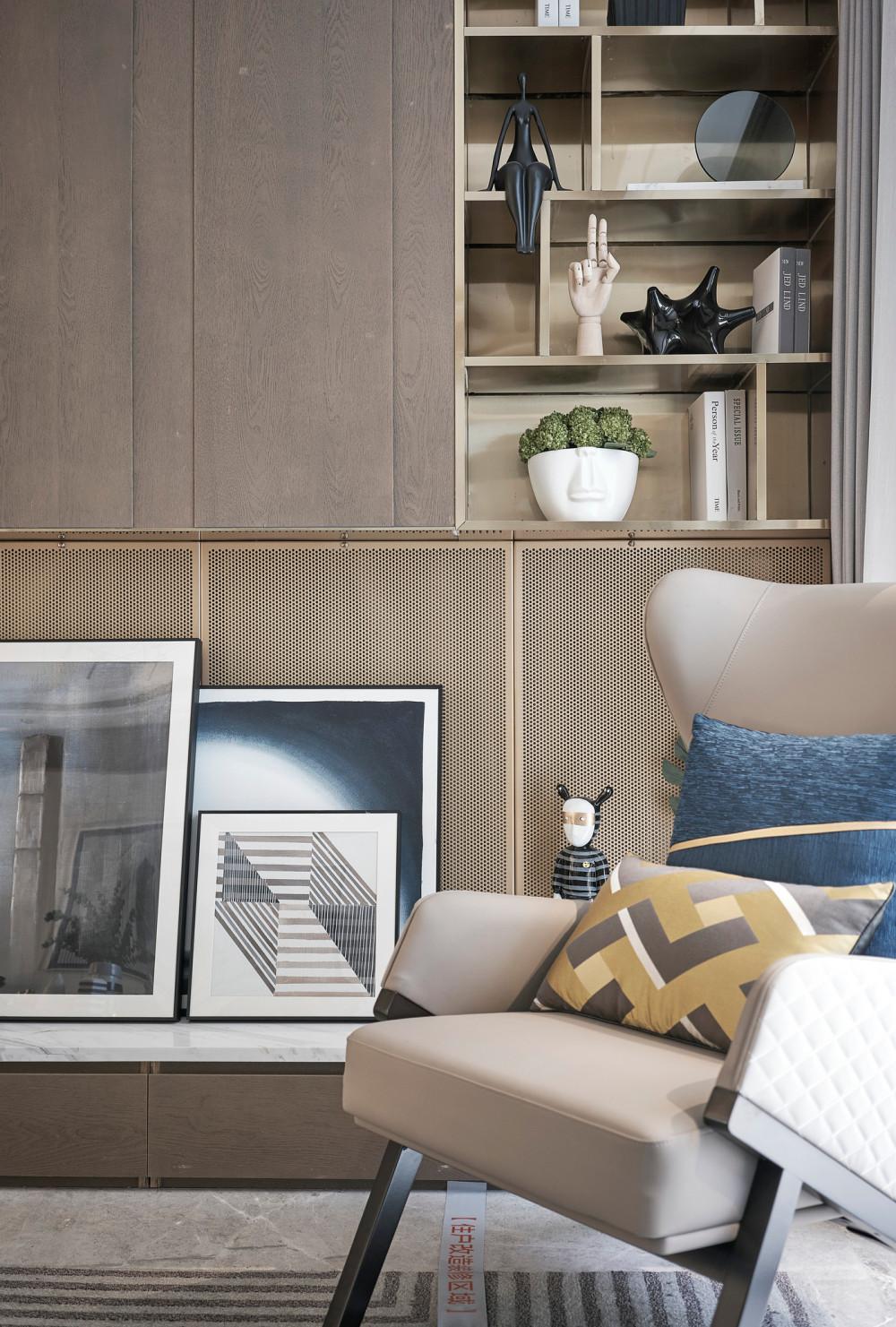 曜年设计 | 朋克思潮现代轻奢样板房 | CAD施工图+效果图+物料表
