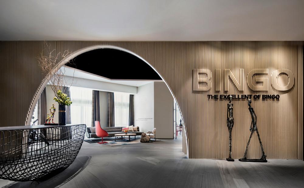 青岛·BINGO宾果国际展示中心会所 | CAD平面系统图+效果图