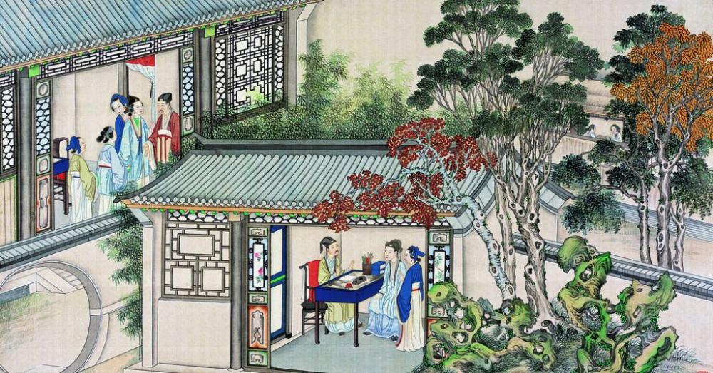 从古典名著绘画本中看古典园林艺术、庭院设计、家具软装及服饰设计_31078822_081001398087_2.jpg