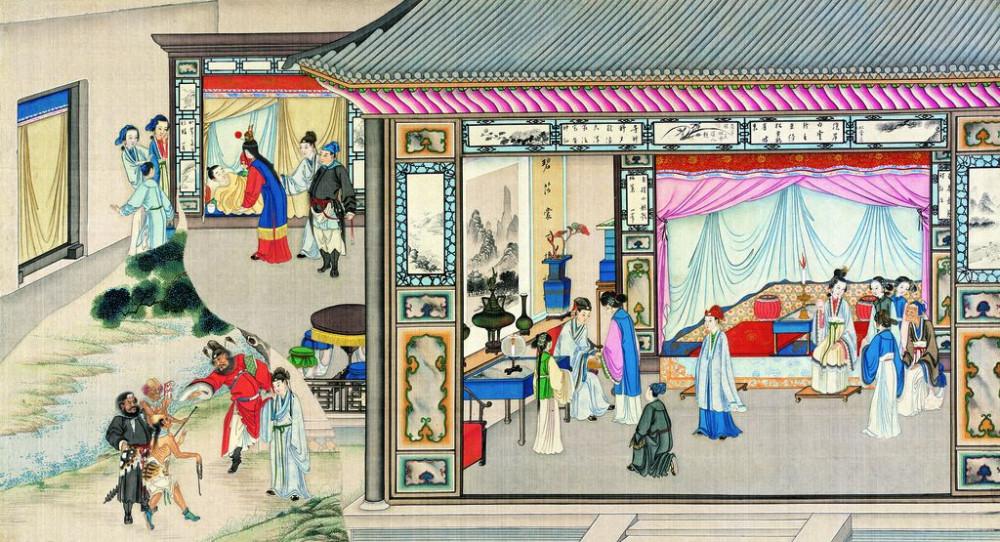 从古典名著绘画本中看古典园林艺术、庭院设计、家具软装及服饰设计_31078822_081551182087_2.jpg