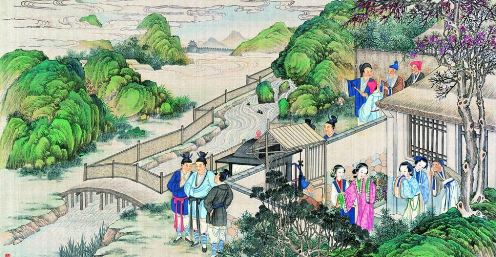 从古典名著绘画本中看古典园林艺术、庭院设计、家具软装及服饰设计_31078822_083057747081_2.jpg