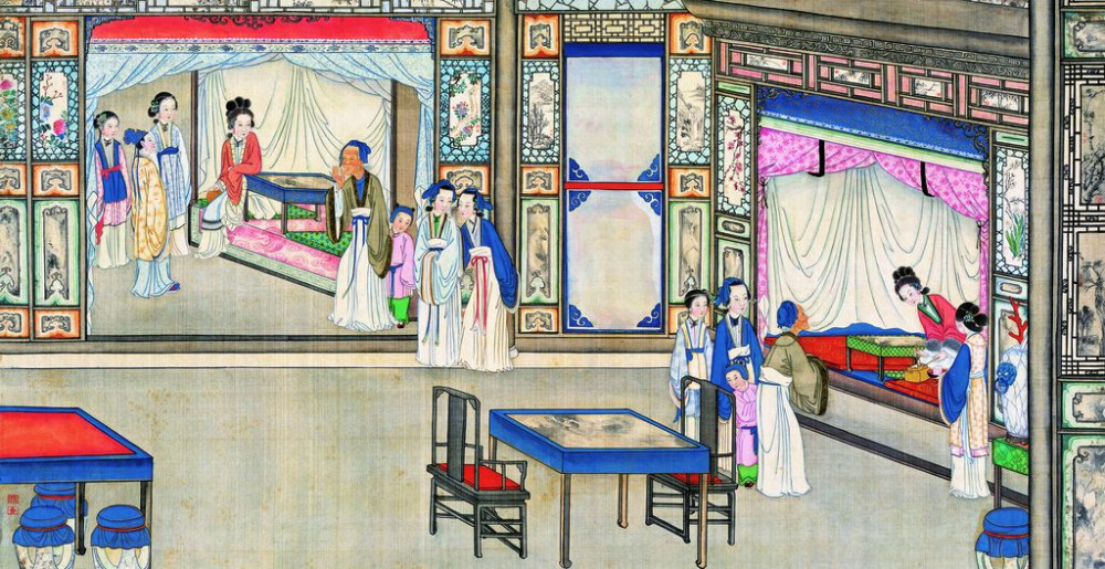 从古典名著绘画本中看古典园林艺术、庭院设计、家具软装及服饰设计_31078822_083314949080_2.jpg