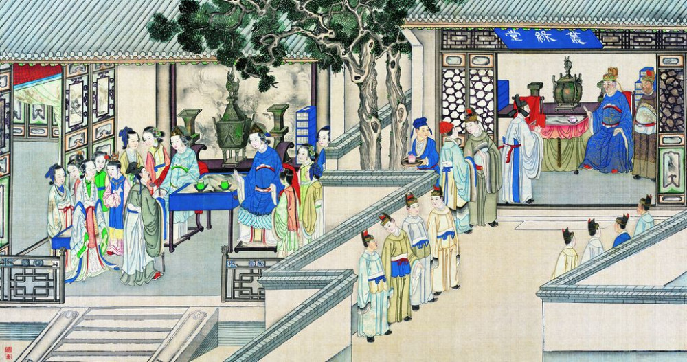 从古典名著绘画本中看古典园林艺术、庭院设计、家具软装及服饰设计_31078822_085909757082_2.jpg