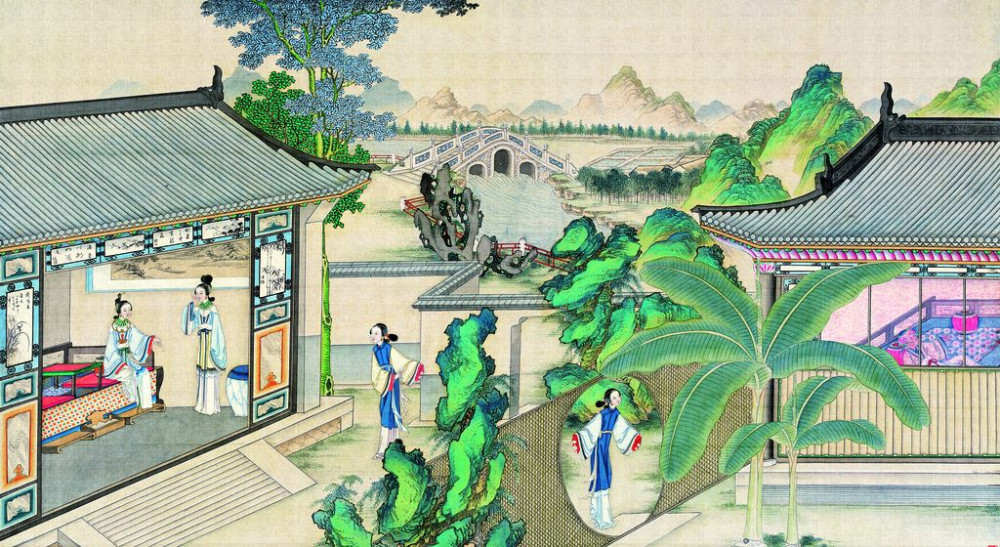 从古典名著绘画本中看古典园林艺术、庭院设计、家具软装及服饰设计_31078822_092327735088_2.jpg