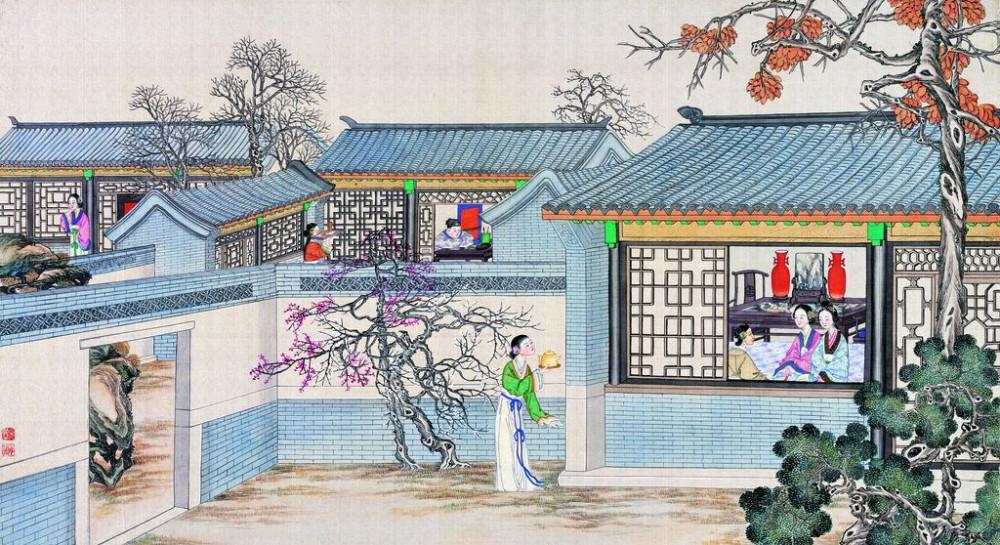 从古典名著绘画本中看古典园林艺术、庭院设计、家具软装及服饰设计_31078822_095010919082_2.jpg