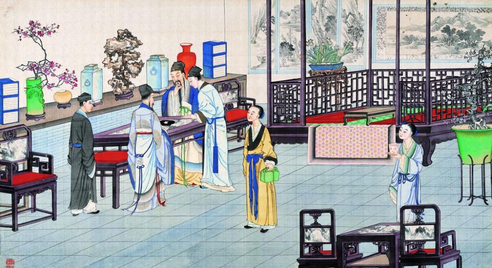 从古典名著绘画本中看古典园林艺术、庭院设计、家具软装及服饰设计_31078822_095619766080_2.jpg