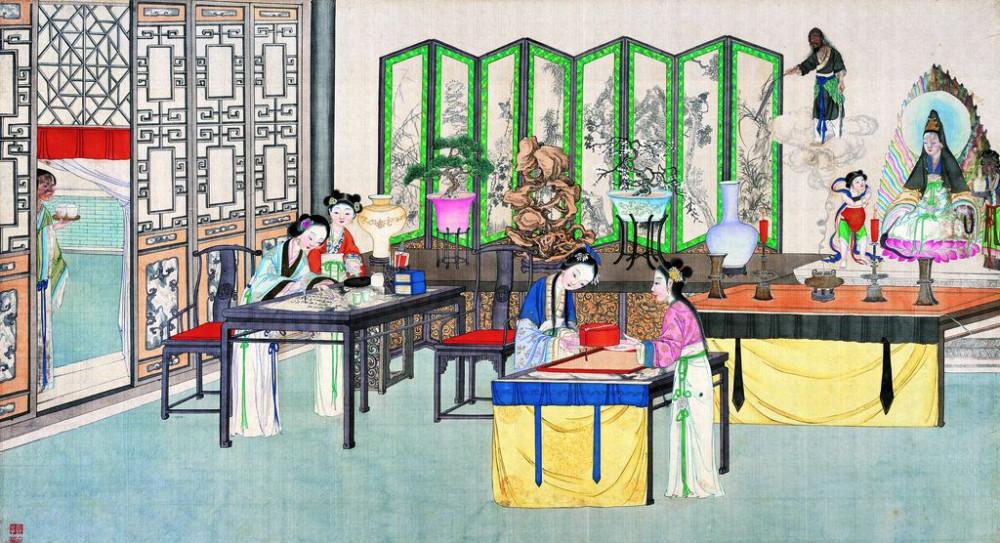 从古典名著绘画本中看古典园林艺术、庭院设计、家具软装及服饰设计_31078822_095921943085_2.jpg