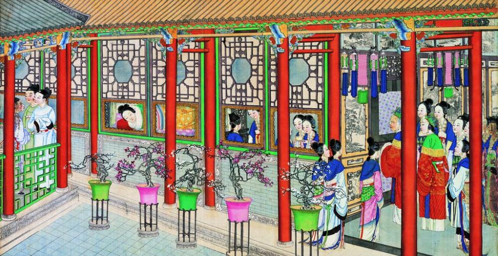 从古典名著绘画本中看古典园林艺术、庭院设计、家具软装及服饰设计_31078822_101527320082_2.jpg