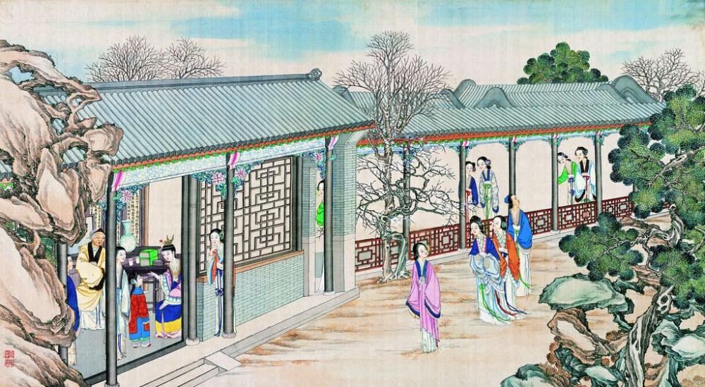 从古典名著绘画本中看古典园林艺术、庭院设计、家具软装及服饰设计_31078822_101946030083_2.jpg