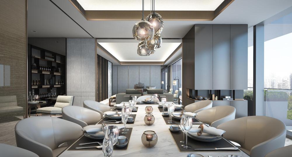 SCDA | 华润城项目T3公寓大堂&五套样板间&会所丨概念方案(两版)+深化方案+效果图+CAD平面图丨