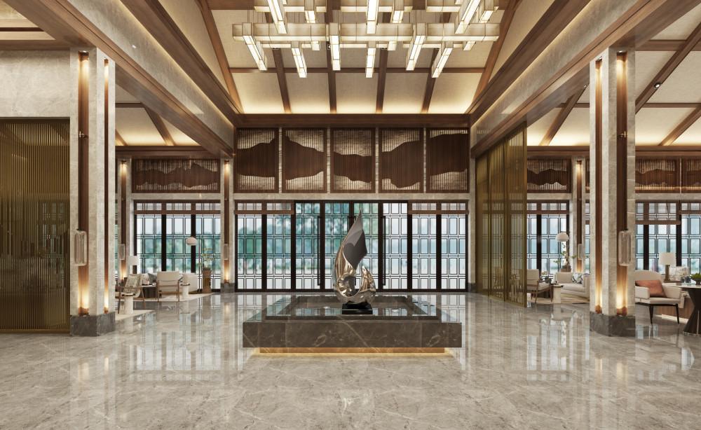 新中式酒店 | 施工图+效果图