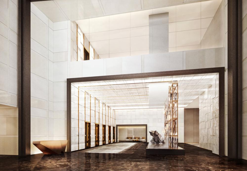 上海鲁能JW万豪侯爵酒店丨PPT设计方案+效果图+公区CAD施工图+摄影+优质实景