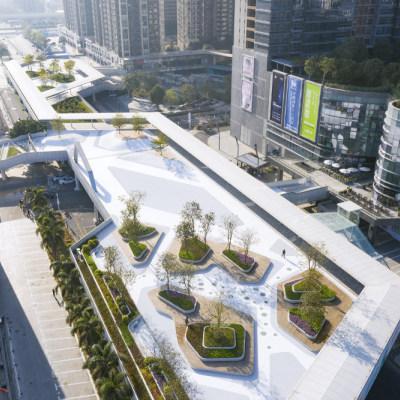 """中国深圳龙岗""""三馆一城""""片区天桥设计(2021)坊城设计"""
