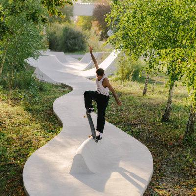法国Continua滑板公园(2020)MBL architectes+bureau David Apheceix
