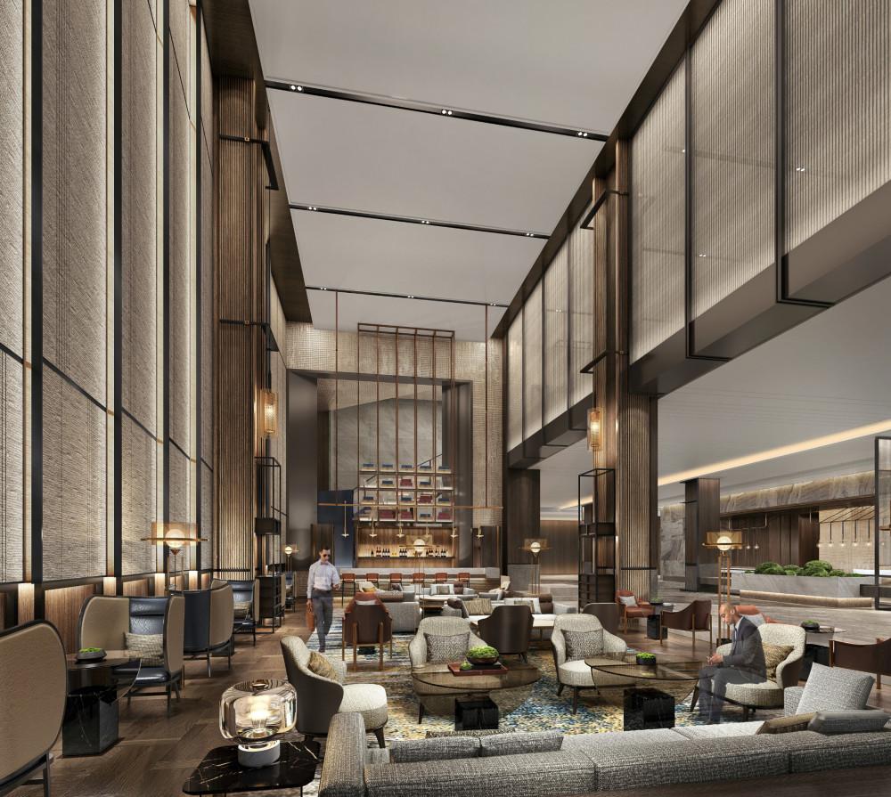 PLD刘波 | 沈阳万豪酒店丨设计方案+效果图+公区施工图+艺术品方案+照明方案+实景 |