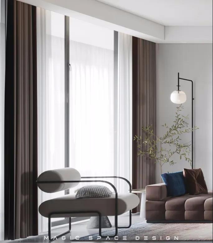 沙发与落地灯
