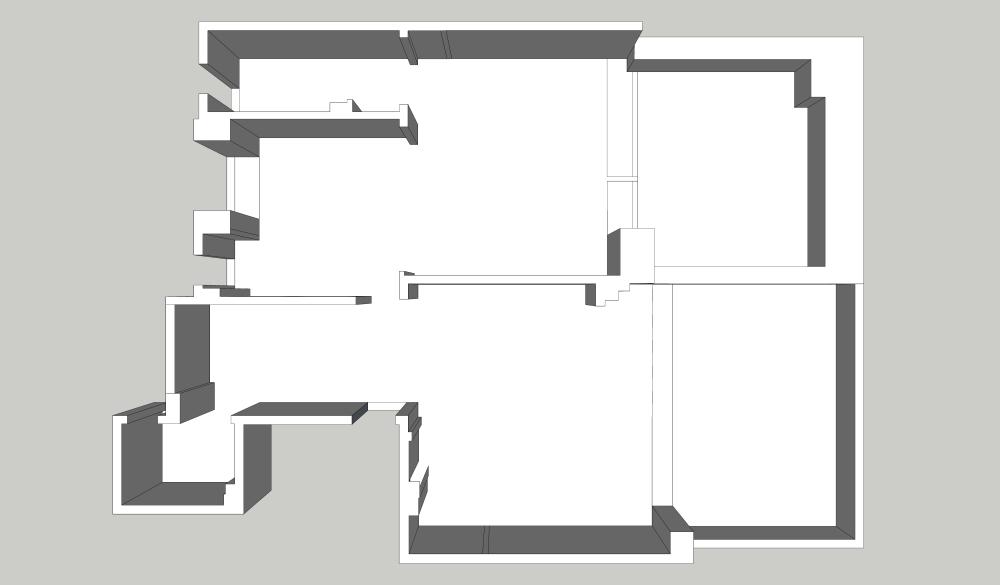 麻吉设计|意式——置地双玺效果图_一层拆除墙体示意图