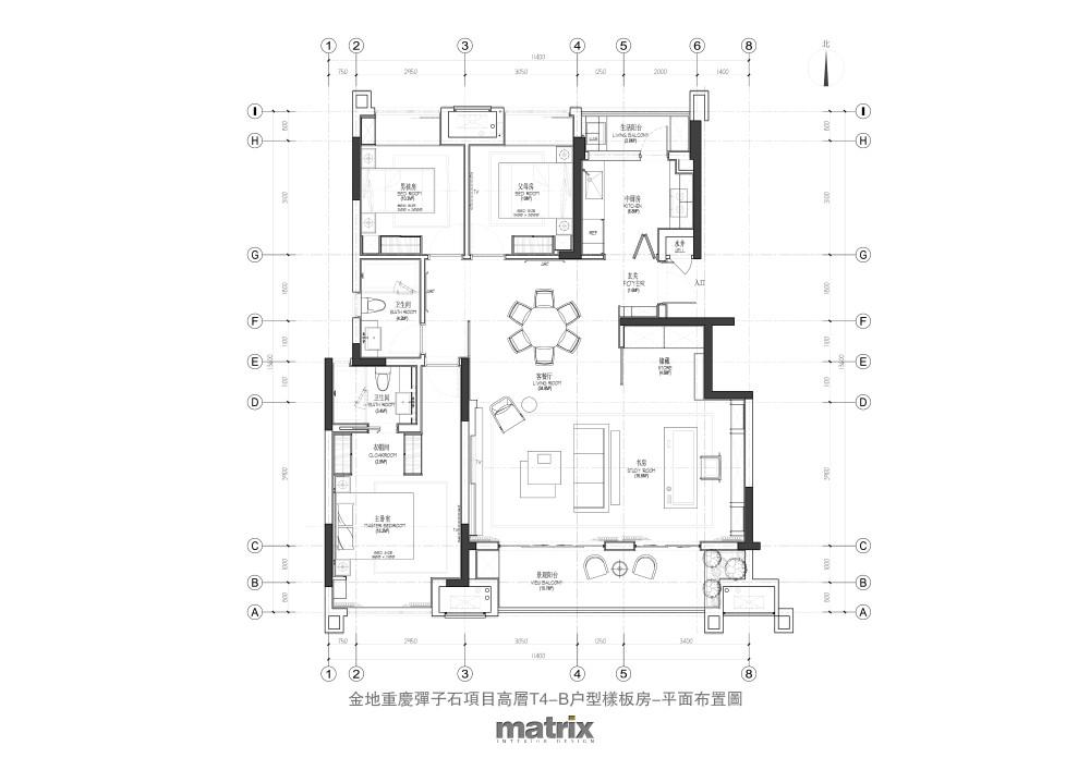 001金地重庆弹子石项目洋房6-3户型样板房-平面布置图.jpg