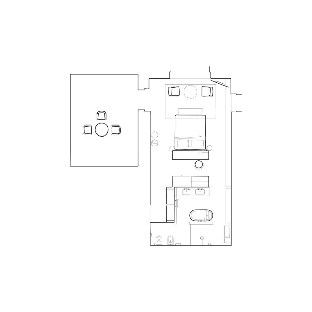 意大利di Langa民宿(2021.6开业)Parisotto+Formenton Architetti_cdl-illustrazione-camera-e-nero.jpg