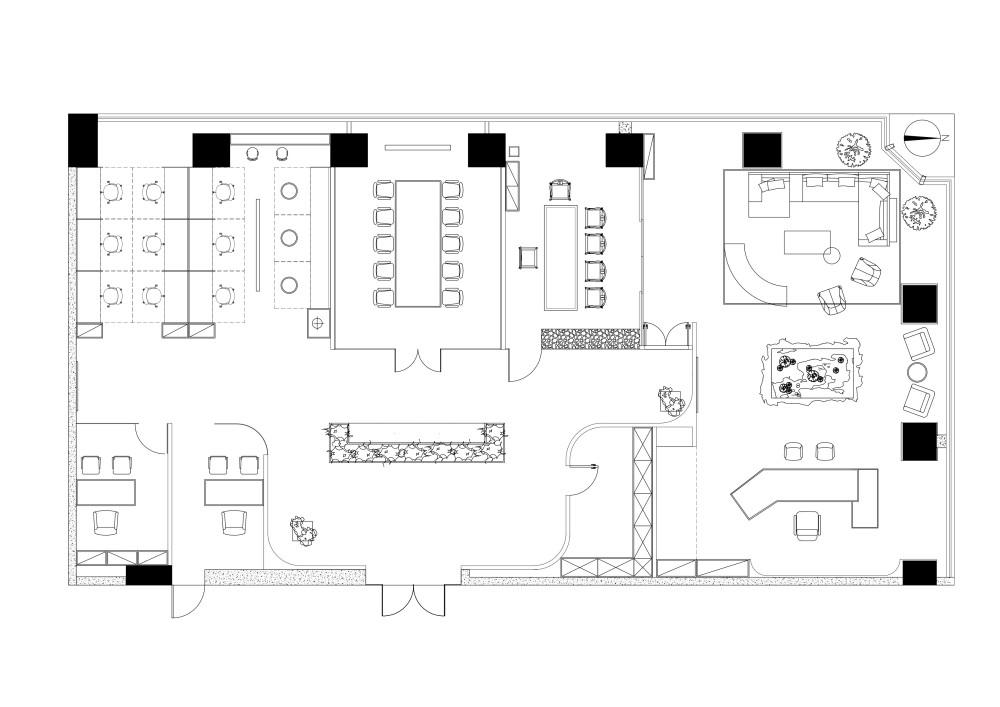 姜辉   北京CBD办公空间的三重畅想-AYZ STUDIO_3.项目平面图.jpg