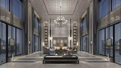 一心设计 | 顺德天鹅湖新中式别墅 | 施工图+效果图 |