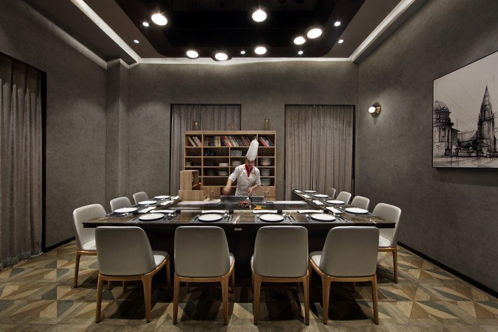 雅玛花式铁板烧餐厅设计,探味法国塞纳河左岸精致生活_20.JPG