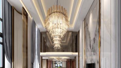 YANG杨邦胜 | 北京恒大顺义丽宫新中式别墅 | 效果图+设计方案+施工图+物料 |