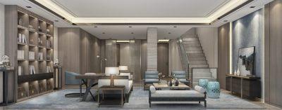 牧笛设计 | 万科扬州翡翠府别墅样板间 | 设计方案+效果图+施工图+3D模型 |