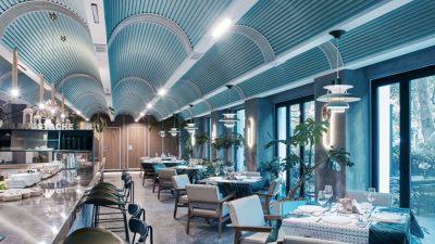 现代主题餐厅 | 施工平面图+实景图+效果图 |