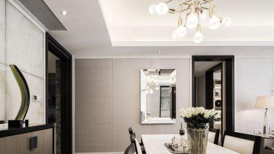 华涌90㎡现代风格样板房 | CAD平立面+官方摄影 |
