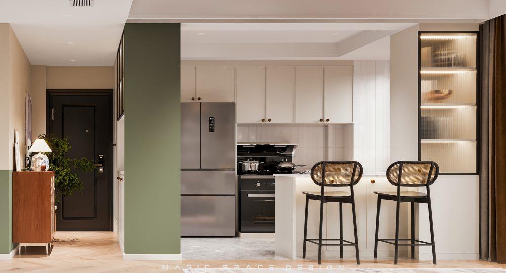 麻吉设计 | 半边生活,半边色彩,三居室112㎡ 的中古之家!(上篇)_厨房1.jpg